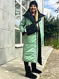 Куртка женская двусторонняя. Размеры: 42-46, 48-52. Цвет: малиновый/черный, черный/лимонный, черный/оливковый., фото 5