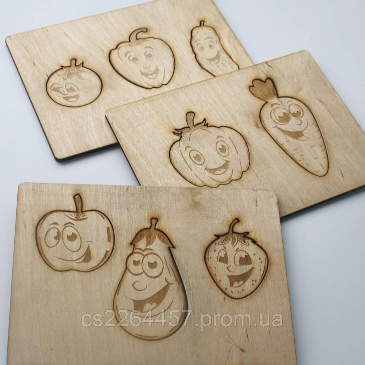 Набор пазлов для детей из дерева