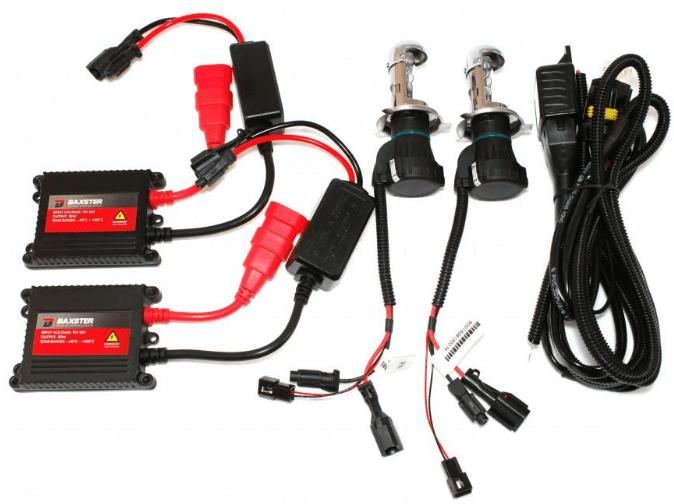 Установочный комплект биксенона Baxster H/L H4 4300K 35W (P20740)