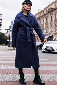 Синє зимове пальто Берлін букле