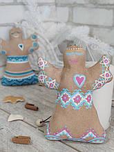 Шитая игрушка ангел к Рождеству, ангел 18 см., ангел 110 гр.