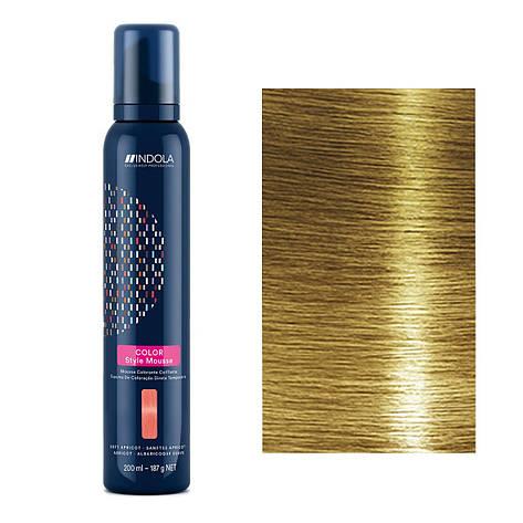Мусс для окрашивания волос Indola Color Style Mousse (темно-русый) 200 мл, фото 2