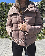 Демисезонная куртка женская короткая холофайбер (Норма) мокко