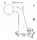 Контурно-габаритный фонарь красно-белый на резиновом угловом кронштейне (рожке) Hella 10033, фото 2