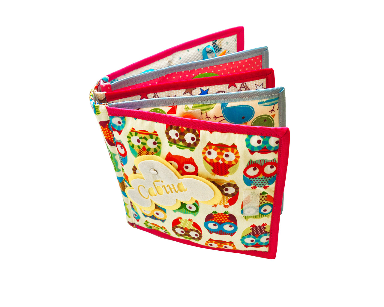 Книга из фетра, Мягкие книжки для детей Handmade, 10 страниц /Owl