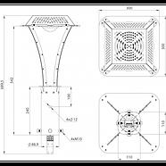Парковий СВІТЛОДІОДНИЙ світильник 27W, 4298 Lm, 5000К, IP65 ( аналог паркового світильника НТУ-08-150), фото 6