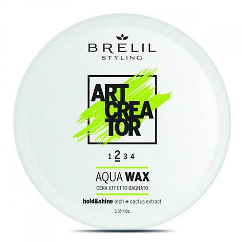 Воск для эффекта мокрых волос Brelil Art Creator Aqua Wax 2 100 мл, фото 2