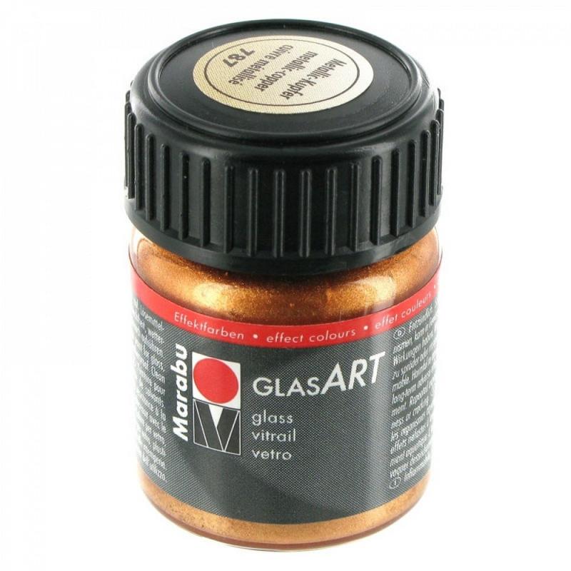 Краска витражная Marabu Glas Art на основе раств. холодной фиксации медный металик 15мл (4007751472618)