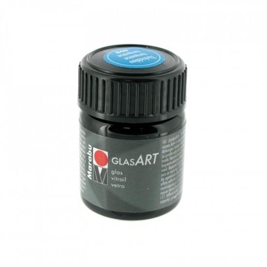 Краска витражная Marabu Glas Art на основе раств. холодной фиксации бирюзовый 15мл (4007751067111)
