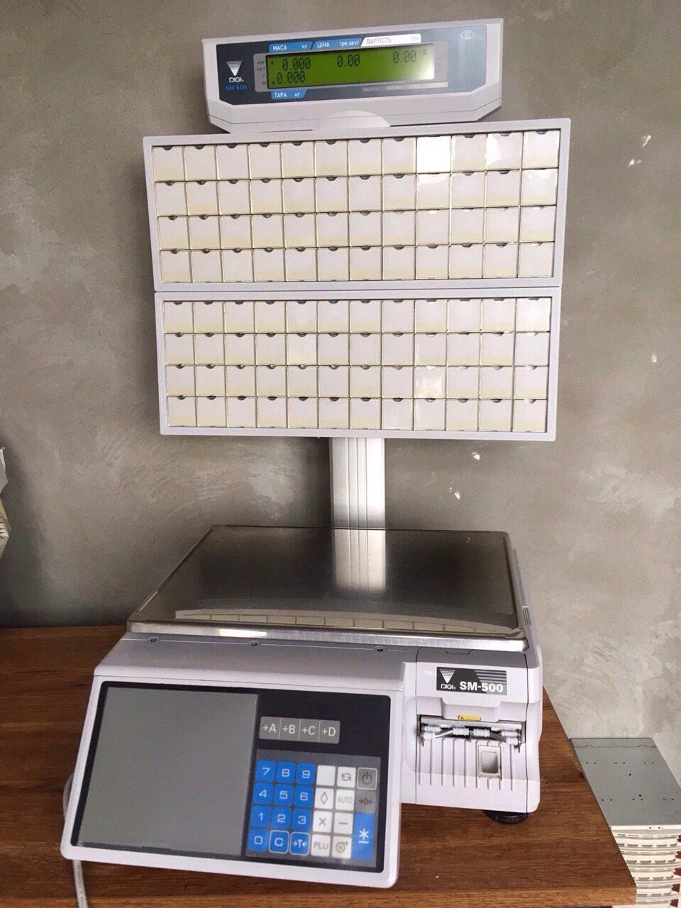 Весы с печатью этикетки Digi SM 500 BS (самообслуживание) бу