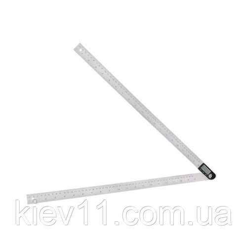 Угломер для измерения углов цифровой с линейкой 500 мм PROTESTER 5422-500