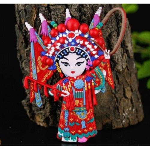 Мягкий магнит в китайском стиле Персонажи пекинской оперы: Му Гуйин