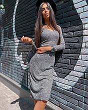 Женское платье с декольте на демисеон