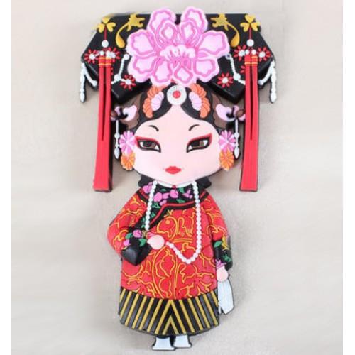Мягкий магнит в китайском стиле Персонажи пекинской оперы: Цин И