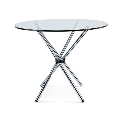 Стол Тог стеклянный обеденный металл диаметр 90 см Grupo SDM
