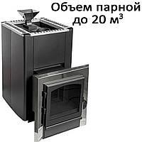 Печь банная, с испарителем, с выносом, дверь со стеклом, черн. PI-20KSIL (20кВт)