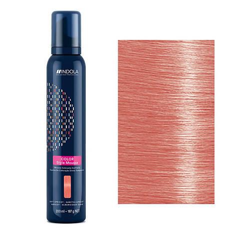 Мусс для окрашивания волос Indola Color Style Mousse (мягкий абрикос) 200 мл, фото 2