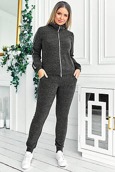 Теплий жіночий костюм Х'юстон графіт