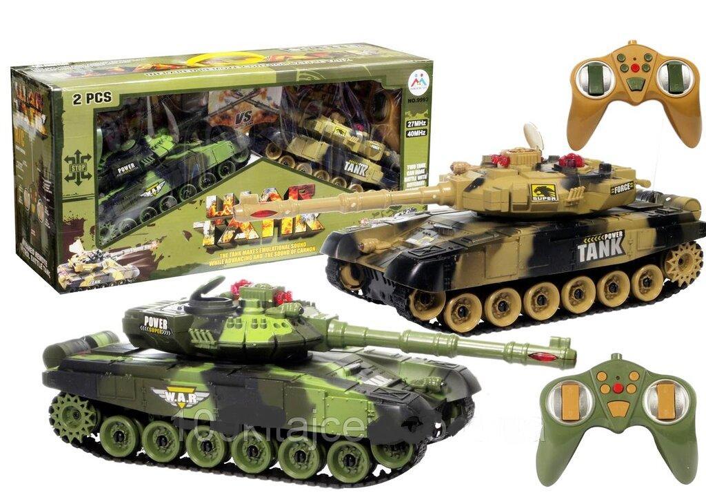 Танковый бой на радиоуправлении 9995-2 со светом и звуком, 2 солдата с оружием, индикатор жизни