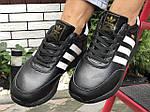 Жіночі зимові кросівки Adidas Iniki (чорно-білі) 9950, фото 3