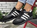 Жіночі зимові кросівки Adidas Iniki (чорно-білі) 9950, фото 5