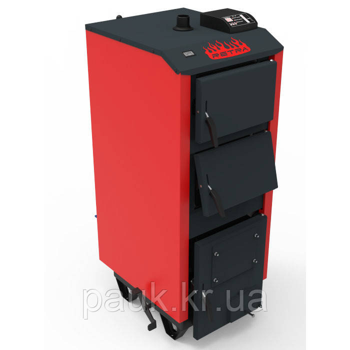 Твердотопливный котел 15 кВт Ретра-5М PLUS с вентилятором и контроллером