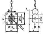 Кронштейн опорної стійки кв. 70, різьбове кріплення, фото 2