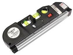 Строительный уровень лазерный со встроенной рулеткой MHZ Laser Level Pro 3 7124, черный