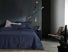 Постільна білизна Bella Villa з вареного бавовни темно-синій