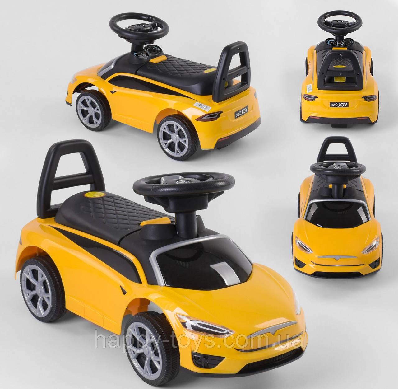 Машина для катания детская Тесла Желтая Каталка-толокар машинка JOY TS 50909