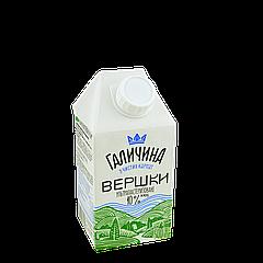 Сливки Галичина 10% 500г (1ящ/12шт)