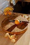 Доска разделочная 50х5 см щитовая из дуба премиум бренда  Casa Verdi, фото 4