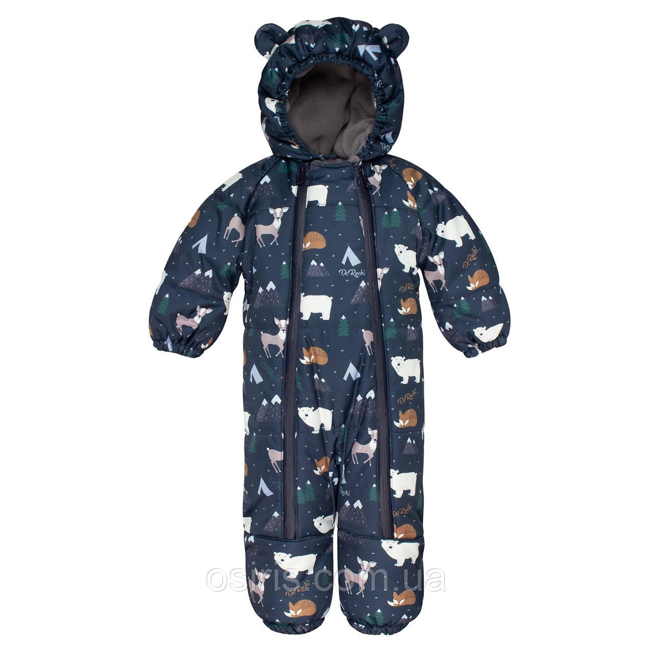 Комбинезон зимний детский Discovery Синяя Арктика / Детские зимние комбинезоны