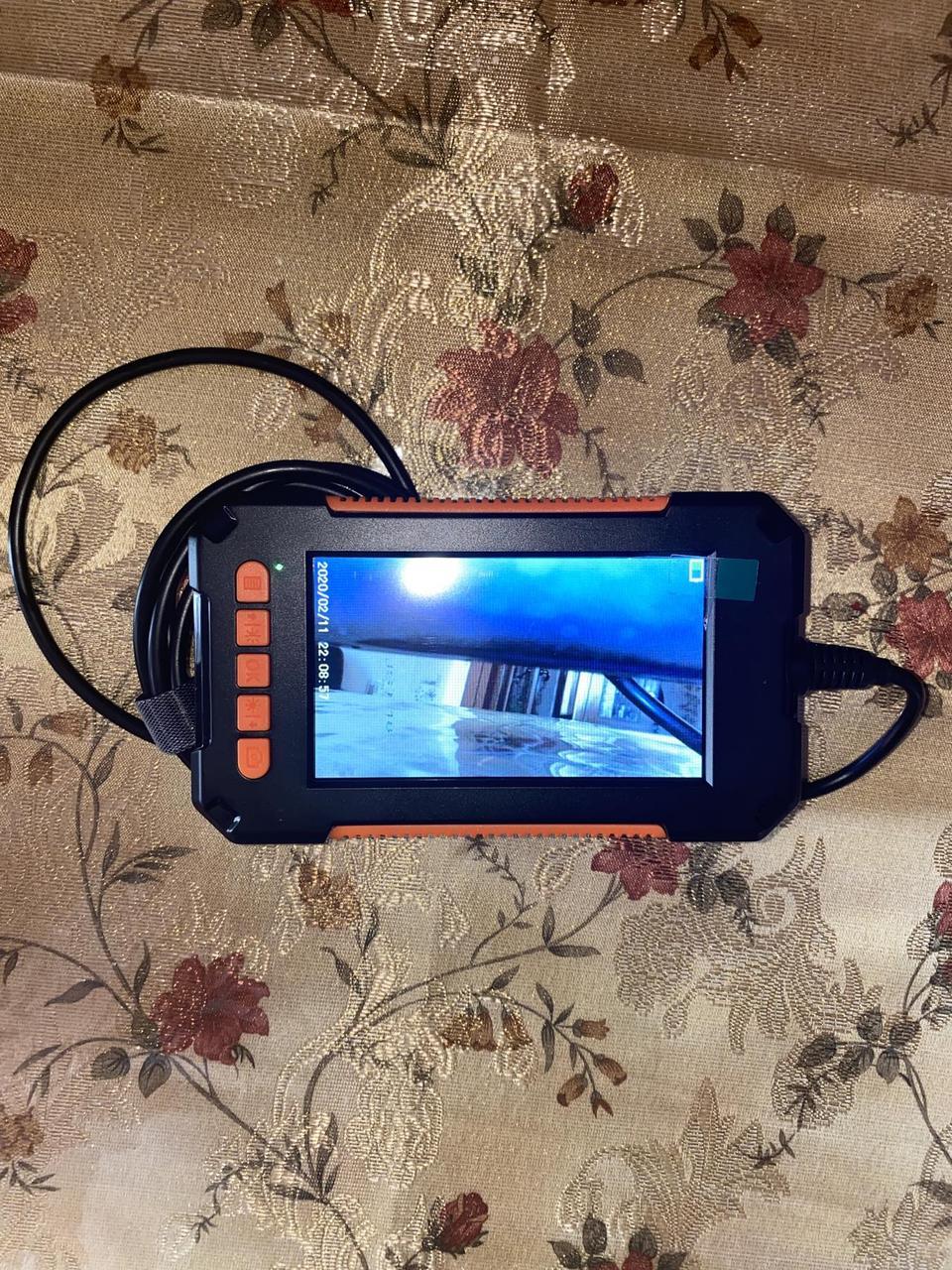 """Технічний бороскоп ендоскоп автомобільний, відеоскоп для труб 4.3"""" FullHD Камера 2600mAh"""