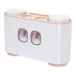 Органайзер для зубных щеток на стену ECOCO E1802 Розовый