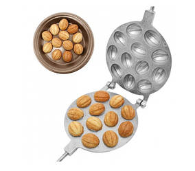 Форма для выпечки печенья орешки орешница Ласунка 12 половинок