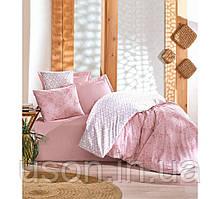Комплект постільної білизни євро Cotton box Ранфорс Minimal Seri Best pembe