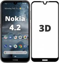 3D Защитное стекло для Nokia 4.2 Dual Sim TA-1157 черное