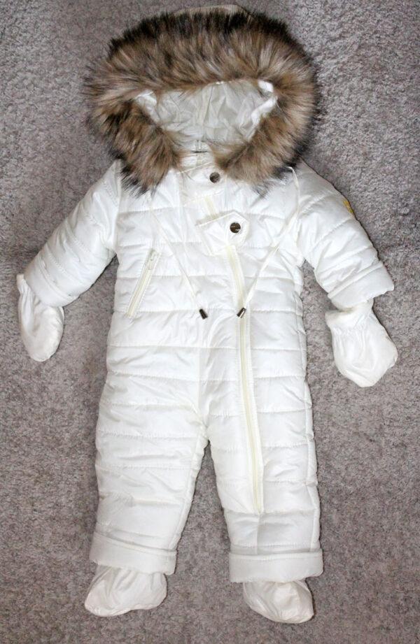Комбинезон цельный для новорожденных белый