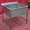 Ванна мийна односекційна з нержавіючої сталі, 90х90х85 див., Б/в