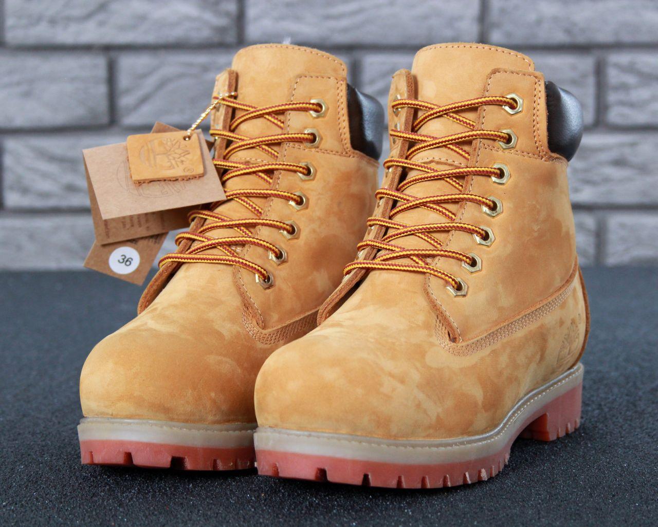 Зимние Мужские рыжие Ботинки Timberland Original