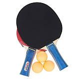 Набор для настольного тенниса 2 ракетки, 3 мяча BUT MT-1278, фото 5