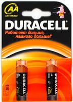 Батарейка АА 2шт DURAСELL Basic 1.5V LR6 алкалиновая Бельгия