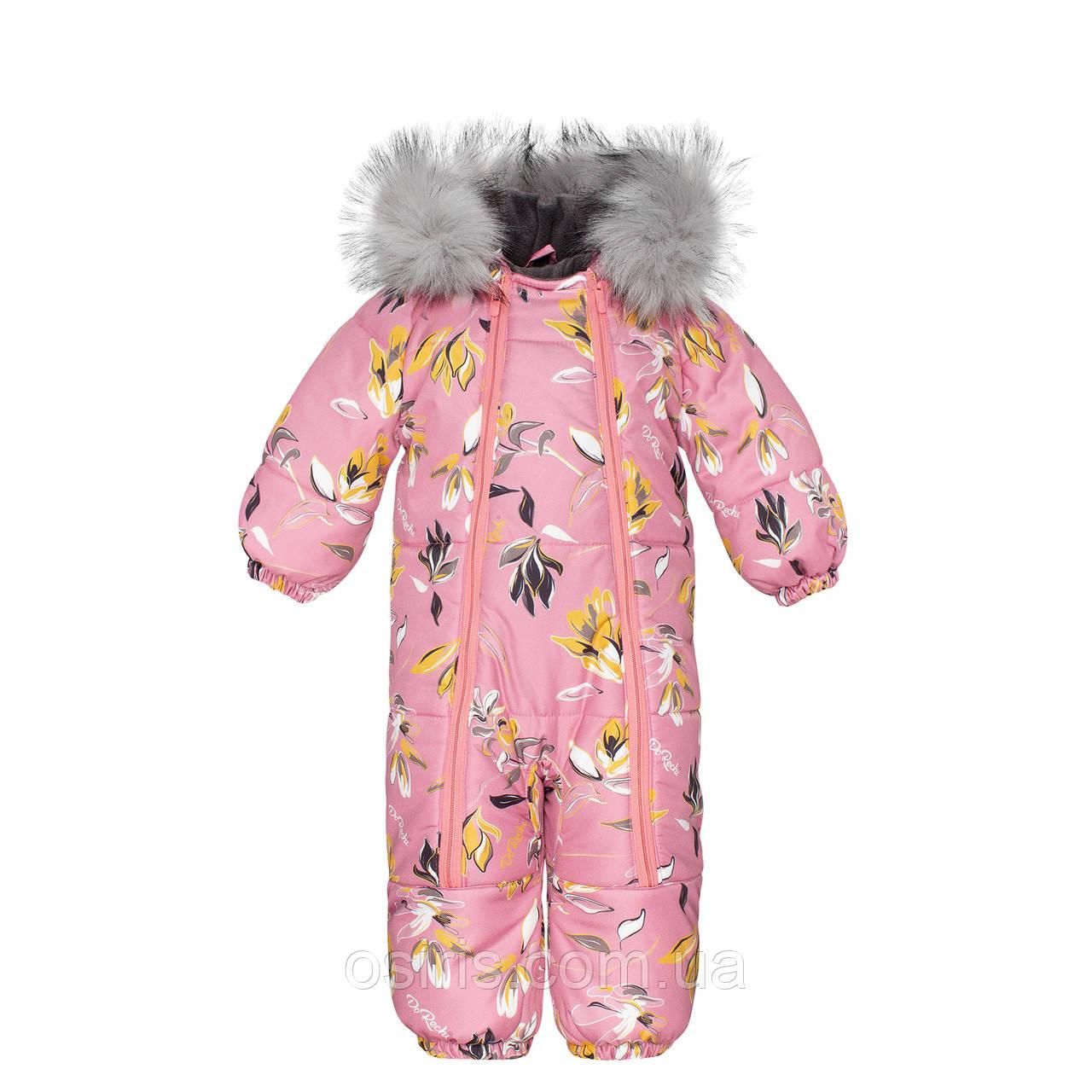 Комбинезон зимний детский Discovery Розовая Мечта с Опушкой / Детские зимние комбинезоны
