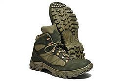 Ботинки Strongboots Тайфун демисезонные кожа нубук/кордура Олива 5154-2-4 (36-46)