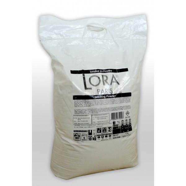 Профессиональный стиральный порошок Lora Paris для белого белья, 10 кг (167 стирок) Франция