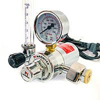 Редуктор (Ar/CO2)  с ротаметром MAGNITEK GS-2020  с подогревом, фото 1
