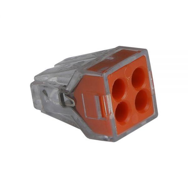 Клемма самозажимная ENERGIO CMK-104 4отв. оранжевая