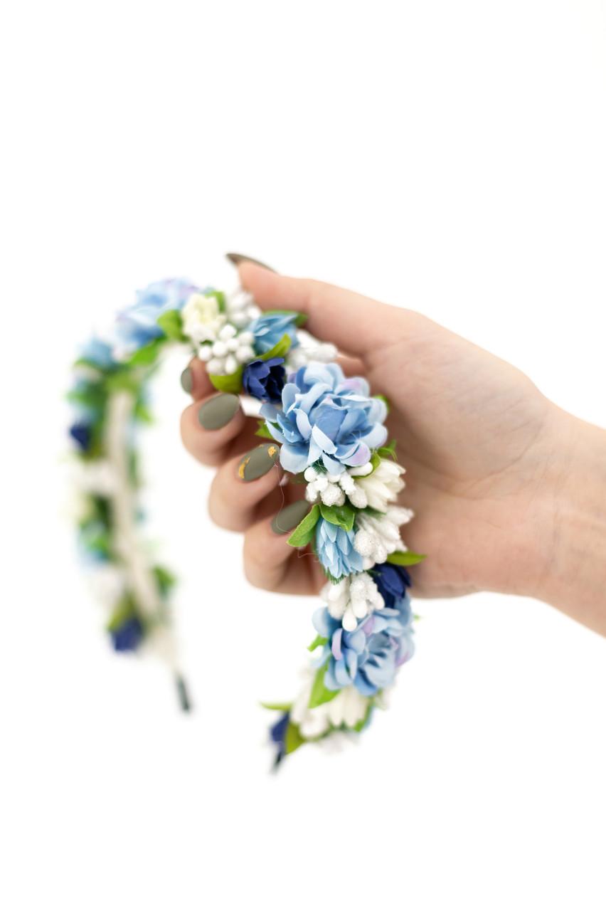 Обруч с цветами под вышиванку
