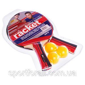 Набор для настольного тенниса 2 ракетки, 3 мяча MK 0206